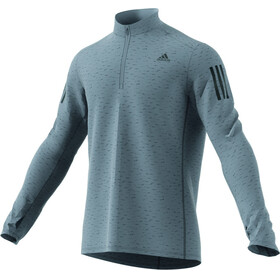 adidas Response 1/2 Zip Long Sleeve Tee Men grey